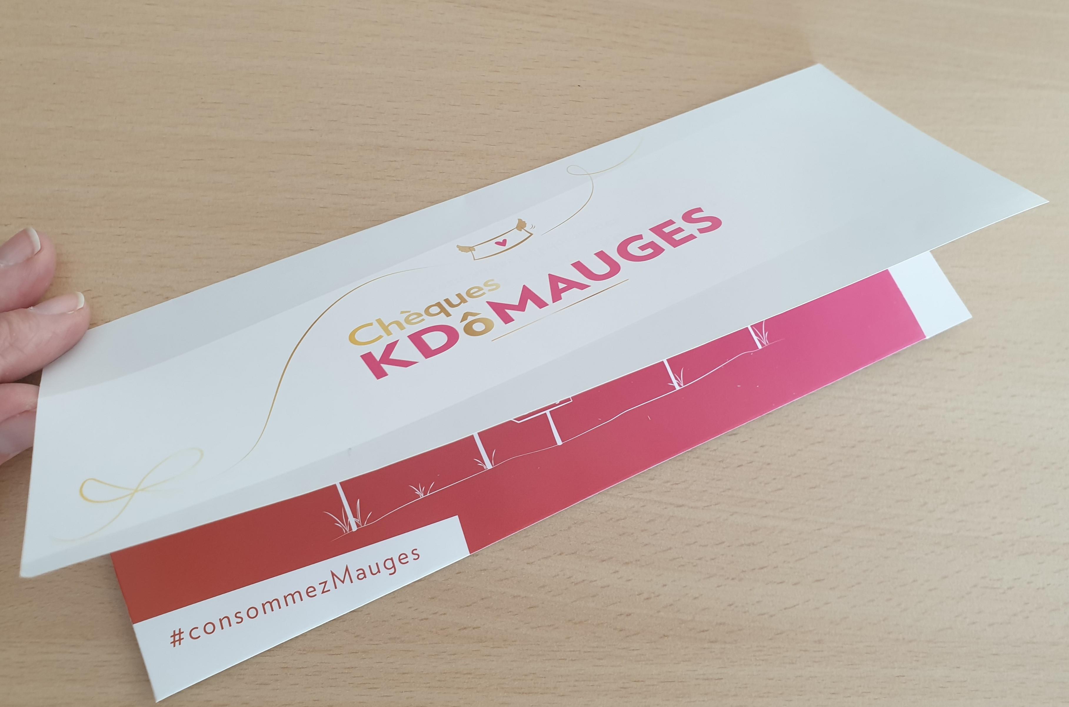 Envoi d'une pochette chèques KDôMauges