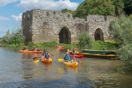 Descente crépusculaire en kayak sur la Loire